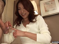Japanese housewife relaxes body trailer from dick before honey