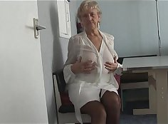 Jazz hungry granny showing her throbbing pussy And she made off her panties and