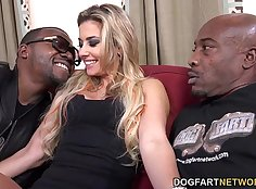 Black Dancer gets double creamped by a huge cock