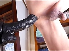 Ebony anal masturbation Aguilaras Dildo Man