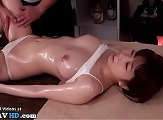 Two Tina Dee and a Japanese Teen Lady with Ramen Massage