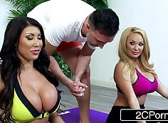 Hot Housewife Bianca shares house with men on real horny dates