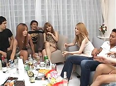 Sultry asian sex party