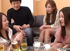 Asian Sluts Get Pounded Out And Creampied At Hazing Party