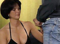 Brunette loves to dress up - German Goo Girls