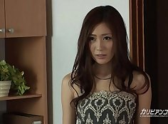 Nice tits babe Kaori Maeda puts on voluptuous face