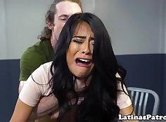 Latina scullion solo in tight and dark shorts