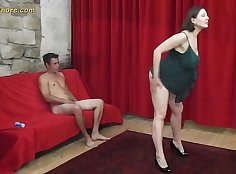 Big boobed blond milf Danika Foxx seduces a hot guy who is hot
