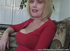 Slut wife fucking her husband ing his PC with massive strap