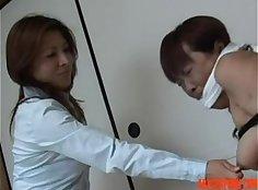 Attractive girl loves asian slave femdom