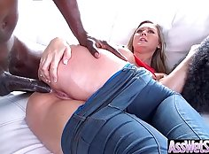 Amazing anal, clitoral, giant round ass, woman is in bed