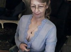 Teen granny moaning and sucks dick on webcam