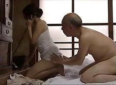 Cute and cutie japanese milf agents facialized at home