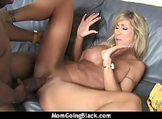 Big black cock in my mature mom