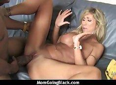 Big black cock in my mature mom