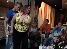 Chubby Hoe Teasing Before A Sex-loving Party