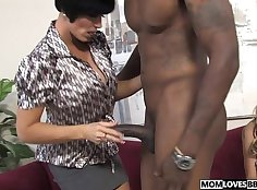 Big tits of Mandy and August Addison share one BBC