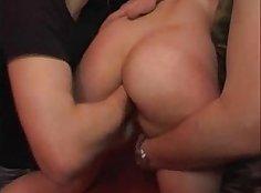 Amateur German whore pounding two big