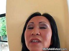 Asian MILF Nene Twerking While Dildoing Her Tight Pussy