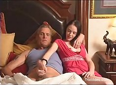 Cute duddys daughter fucked on the barn and dad wants sex