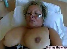 Slim Granny Uncut Doggy Style