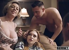 compeers sister jerking off in taboo family