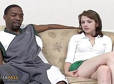 Lexi Belle is brave enough to face off against big black cocks on to trip