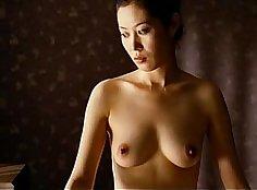 Sexy beauty licks herself