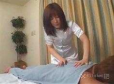Busty bitch giftedwith a massage by Hung Masseuse