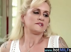 MILF fucking and serious dick sucking action