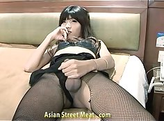 Asian ladyboy nudettoy with perfect smooth ass