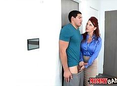 Slutty Redhead Threesome Sex Action