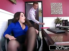 Office Slut Teases Her Tight Girl Ass That Shows Off Her Cock