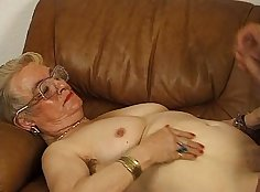 Amazing girl is giving blowjob and gets her ass hole fingered