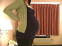 Sexy teen having sex with his pregnant friend